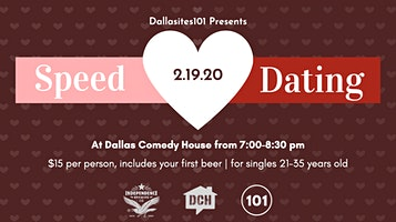 Speed Dating presented by Dallasites101