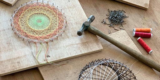 String Art - Thinking outside the box, in a box, with nails & string!