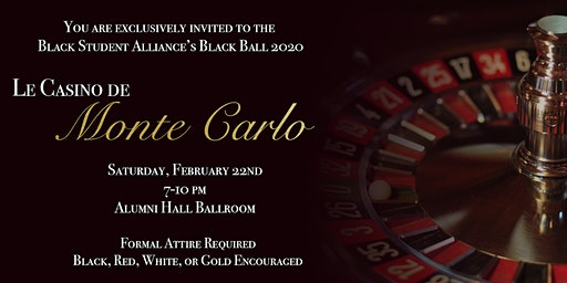 "The BSA Presents Black Ball 2020...""Le Casino de Monte Carlo"""