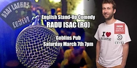 Radu Isac (RO) Live English Comedy tickets