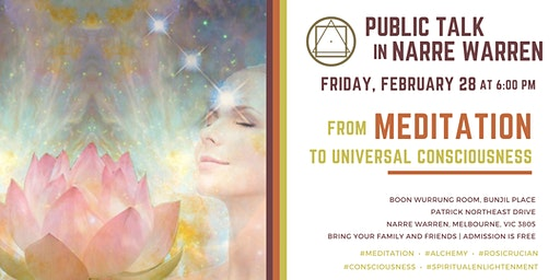"Public Talk in Narre Warren: ""From Meditation to Universal Consciousness"""