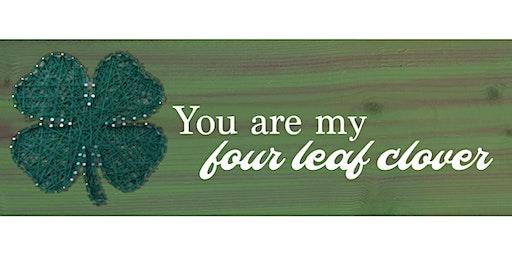 Four leaf clover  String art Paint Sip Wine Art Maker Class