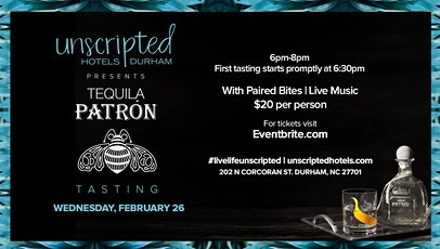 Tequila Tasting with Patron tickets