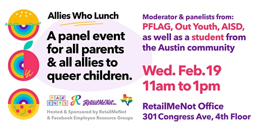 Allies Who Lunch: Presented by LGBTQA+ and Pride@FBATX at RetailMeNot, Inc.