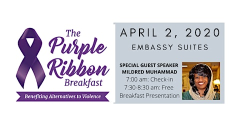 CANCELLED- 4th Annual Alternatives to Violence Purple Ribbon Breakfast- CANCELLED tickets
