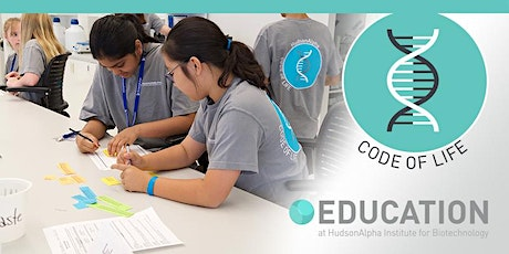 Code of Life Middle School Biotech Camp, June 1-5, 2020 tickets