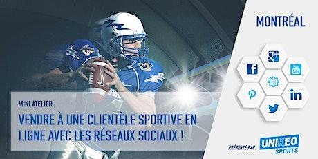 Vendre à une clientèle sportive en ligne avec les réseaux sociaux ! tickets