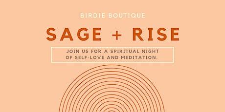 Sage + Rise tickets