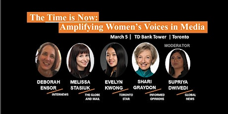 The Time is Now: Amplifying Women's Voices in Media tickets