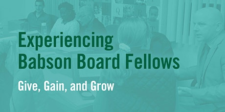 Experiencing Babson Board Fellows tickets