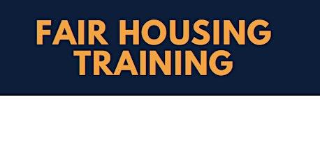 Fair Housing Training tickets
