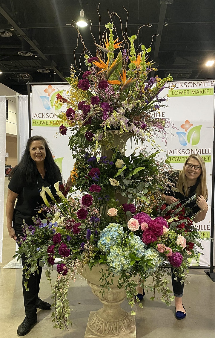 Fountain of flowers with floral designers