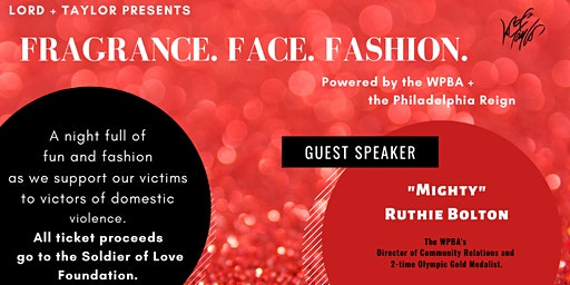 Fragrance. Face. Fashion. A Soldier of Love Fundraiser.