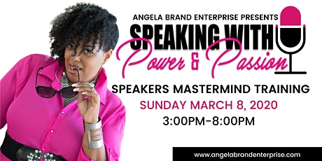 Speaking with Power & Passion Mastermind Training tickets