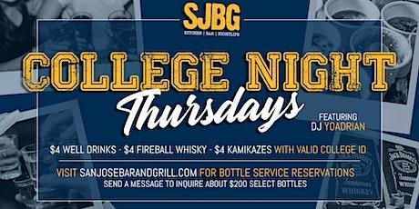 College Night Thursdays tickets