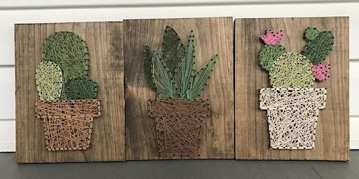 Cactus String Art at Springfield Manor