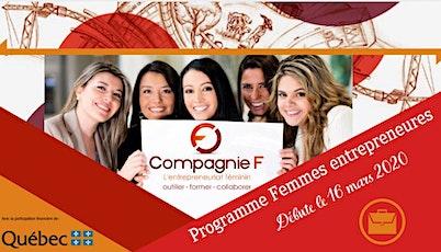 Séances d'informations - Programme Femmes entrepreneures - Cohorte de Mars billets