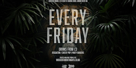 Zoo Bar every Friday // Student Drink Deals // Open till 3AM tickets