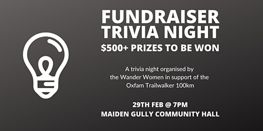 Trivia Night - Wander Women Fundraiser