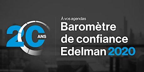 Baromètre de confiance Edelman - Édition Québec 2020 billets