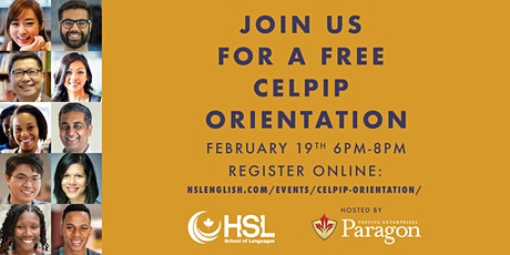 FREE CELPIP Orientation by Paragon at HSL School of Languages tickets