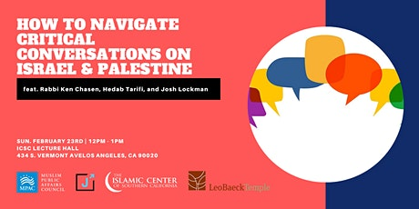 How to Navigate Critical Conversations on Israel & Palestine tickets