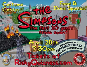 The Simpsons: The 1st 10 Years Trivia Event! tickets