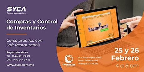 "Curso Práctico ""CONTROL DE INVENTARIOS CON SOFT RESTAURANT"" entradas"