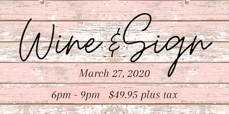 Wine & Sign Wood Painting tickets