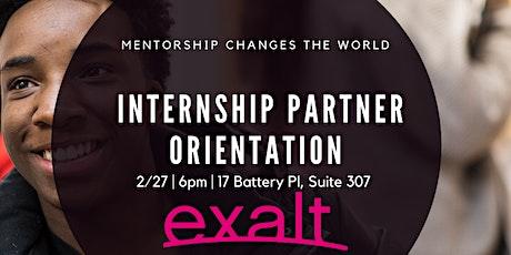 Internship Partner Orienation tickets