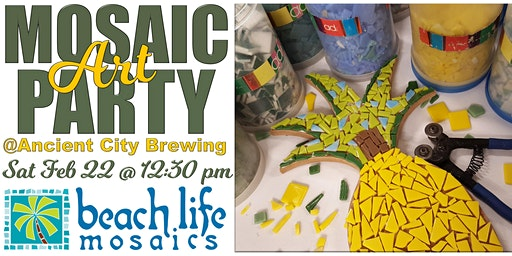 Mosaic Art Party in St. Augustine @ Ancient City Brewing