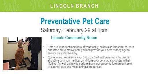 Preventative Pet Care