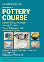Homeware Pottery Course Clements Hall