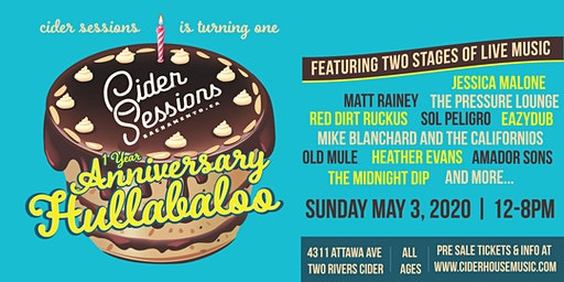 Cider Sessions 1 Year Anniversaary