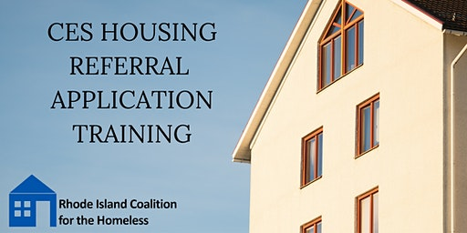 CES Housing Referral Application Training