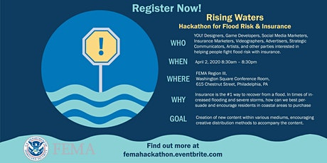 Rising Waters - FEMA Hackathon for Flood Risk & Insurance tickets