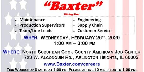 Employment Workshop with Baxter tickets