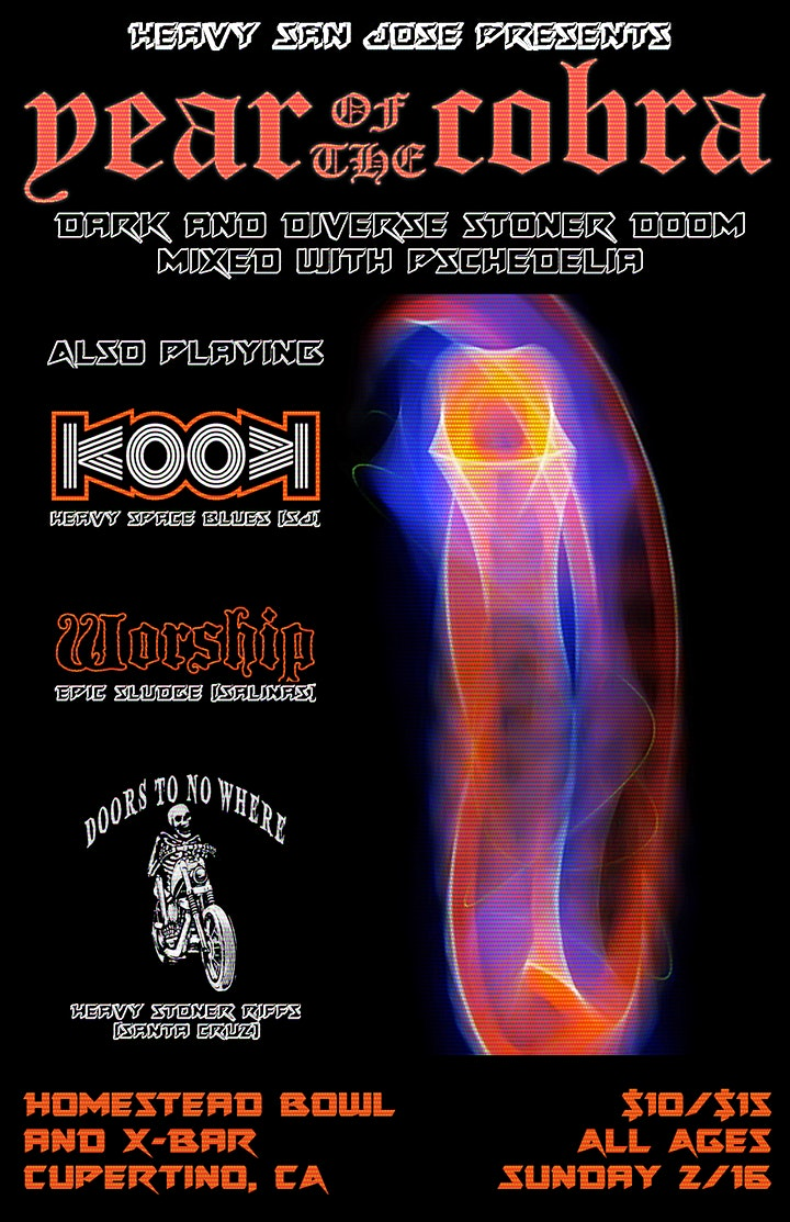 Year of the Cobra with KOOK, Worship, and Doors to No Where image