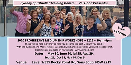 Progressive Mediumship Workshop with Val Hood Sydney 2020 tickets