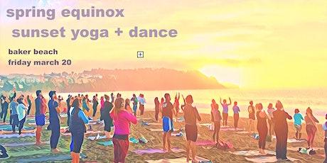 Spring Equinox Gathering :: Sunset Beach Yoga + Dance  tickets