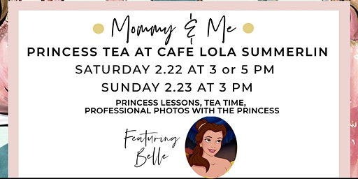 Mommy and Me Princess Tea with Belle