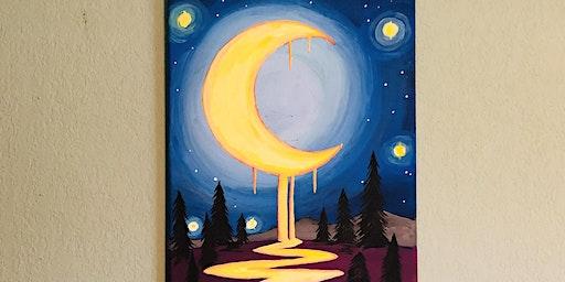 Dripping Moon Paint & Sip @ True Juice