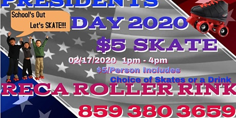 School's out - Let's sk8 $5 President's Day sk8 tickets