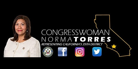 Congresswoman Norma J. Torres - 2020 Tax Returns with the Tax Pros tickets
