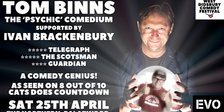 Ivan Brackenbury Supports Tom Binns: The 'Psychic' Comedium tickets