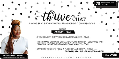 Thrive Chat: Anxiety + Fear tickets