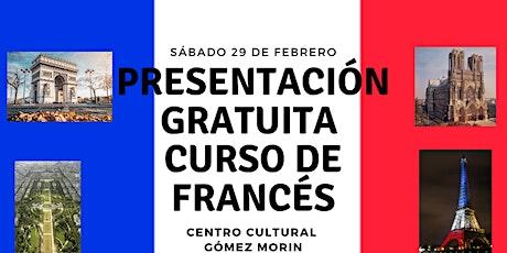 Presentación GRATIS de Curso de Francés boletos