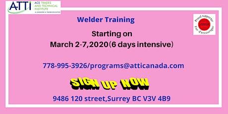 Welder Course tickets