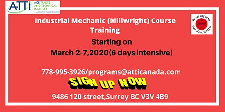 Industrial Mechanic (Millwright) Course tickets