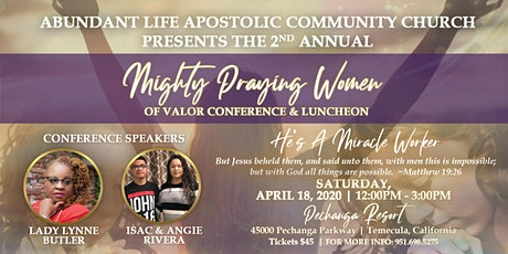 ALACC  2nd Annual Mighty Praying Women of Valor prayer luncheon tickets